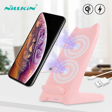 NILLKIN 10W Qi Wireless Charger For iPhone 8 Plus X Fast Charging Stand Xr Xs Max Cute Chargers holder