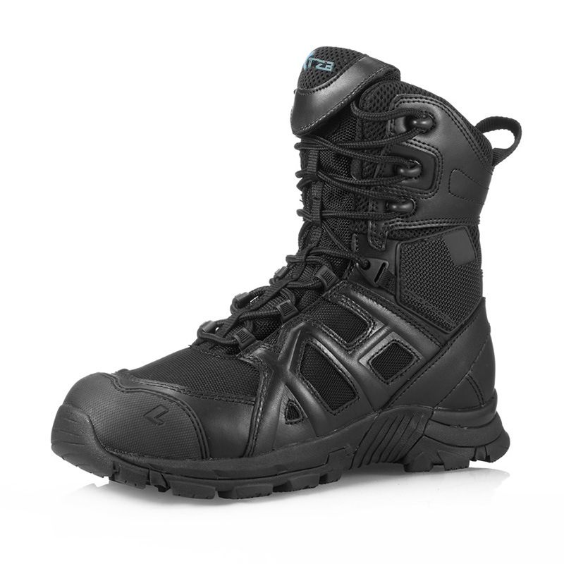 High quality Brand calfskin boots men Outdoor sports leather hunt desert Military Tactical shoes Hiking Climbing sneakers women