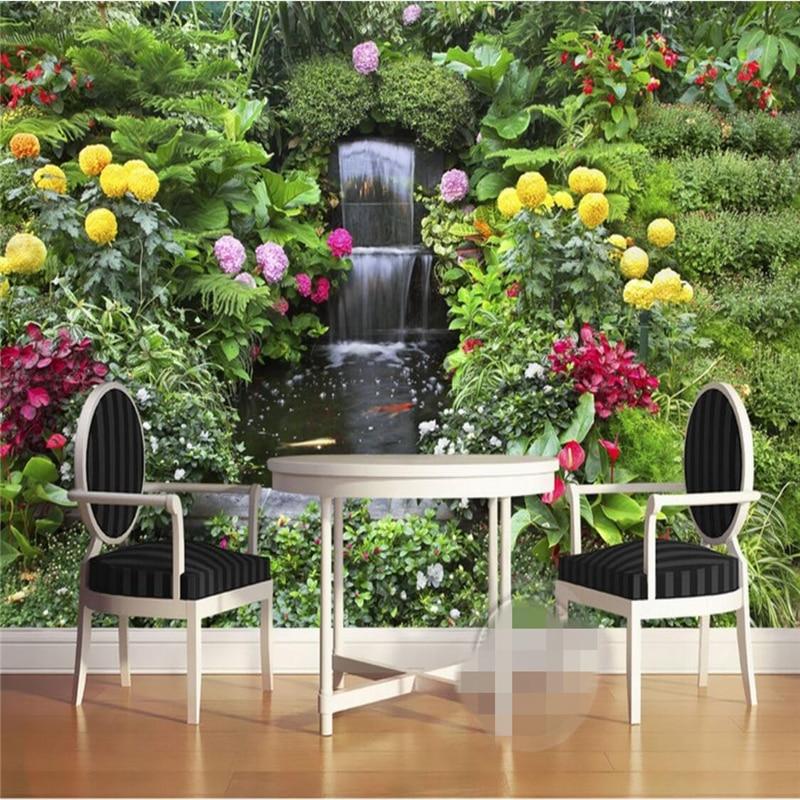Flower Garden Wallpaper Background online get cheap garden wallpaper mural -aliexpress   alibaba