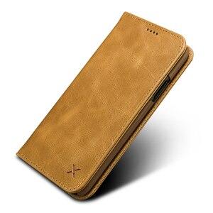 Image 4 - Orijinal XOOMZ hakiki deri cüzdan kılıf iPhone XS için XR XS MAX lüks Vintage mıknatıs Flip kapak telefon kılıfı için iPhone X durumda
