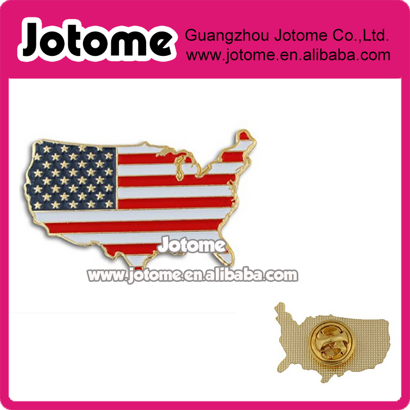 1*0.25 inch United States Outline American Flag Patriotic Lapel Pin ,Map of the United States brooch