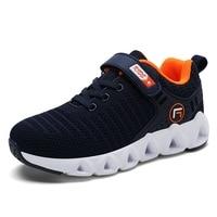 Весенне-Осенняя детская обувь спортивная обувь для мальчиков и девочек модная брендовая Повседневная дышащая уличная детская спортивная о...
