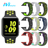 IVI Sport Cover For Apple Watch Series 1 2 38mm 42mm Strap Band Silicone Sports Waterproof