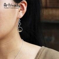 Artilady 925 Sterling Silver Drop Earrings Fashion Bird Grass Design 925 Silver Earrings For Women Jewelry