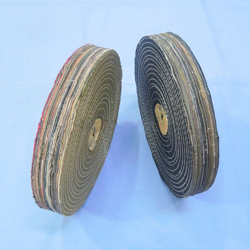 5 Inch Drum Cotton Cloth Abrasive Polishing Wheel For Metal Jewelry 120mm x100mm
