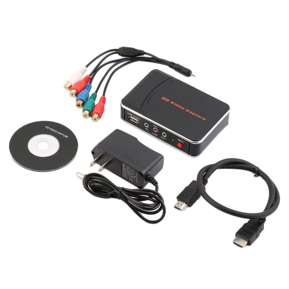 HD Game Video Capture 1080P HDMI YPBPR Recorder US Plug for Game Lovers with One Click No PC Enquired No Any Set-up