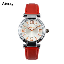 Abrray Brand Leather Strap Analog Display Women Dress Watch Fashion Casual Quartz Watch Women Wristwatch relogio feminino
