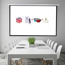 """100 """"16:9 pantalla Eléctrica Pantalla de Proyección de Alta Calidad proyeccion para LED LCD HD Película de Pantalla de Proyección Motorizada"""