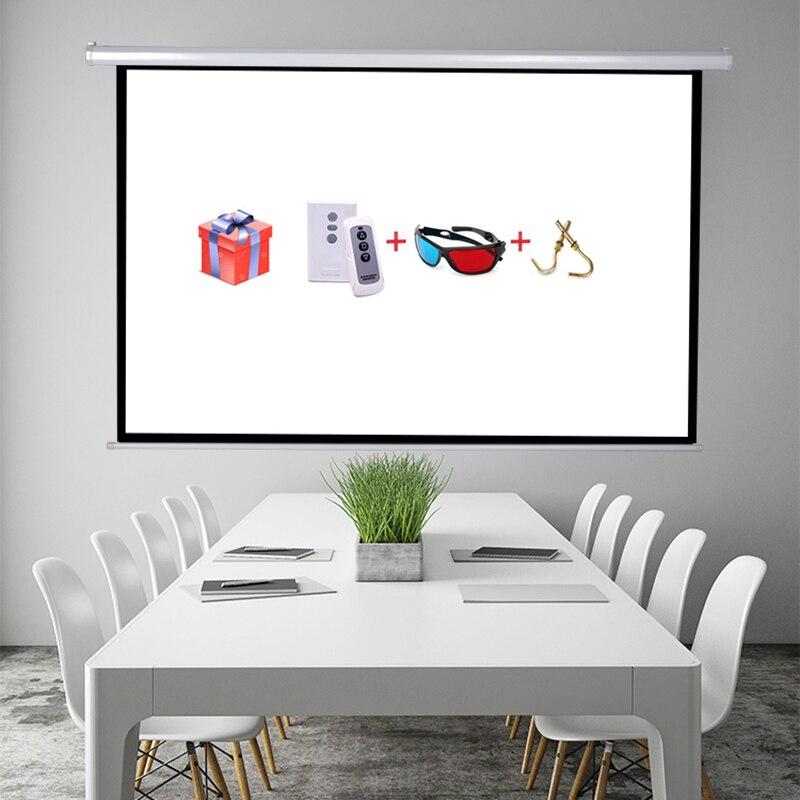 100 ''16:9 proyeccion d'écran de Projection électrique de haute qualité pour l'écran de projecteur motorisé de film d'affichage à cristaux liquides HD de LED