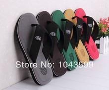 2014 Men's Spring Fashion Summer Casual sandals Beckham Celebrity brand designer quality flip flops sandals shoes Slippers