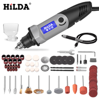HILDA 400W mini electric drill with 6 position Variable Speed for Dremel Rotary Tools with color box packing mini machine