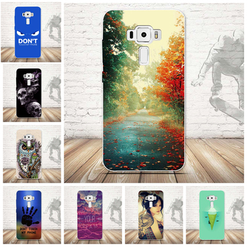 Fashion Ultra Thin Soft Silicone TPU Beautiful Beach Cloudy Moon Ocean Scenery Phone Case for Asus Zenfone 3 ZE520KL Case image