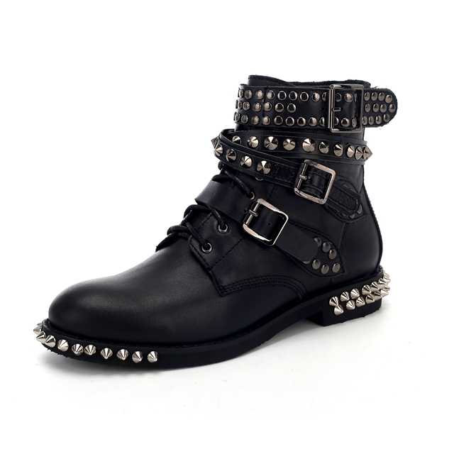 Unique Women Boots British Style Classic Women Motorcycle Boots Black Autumn