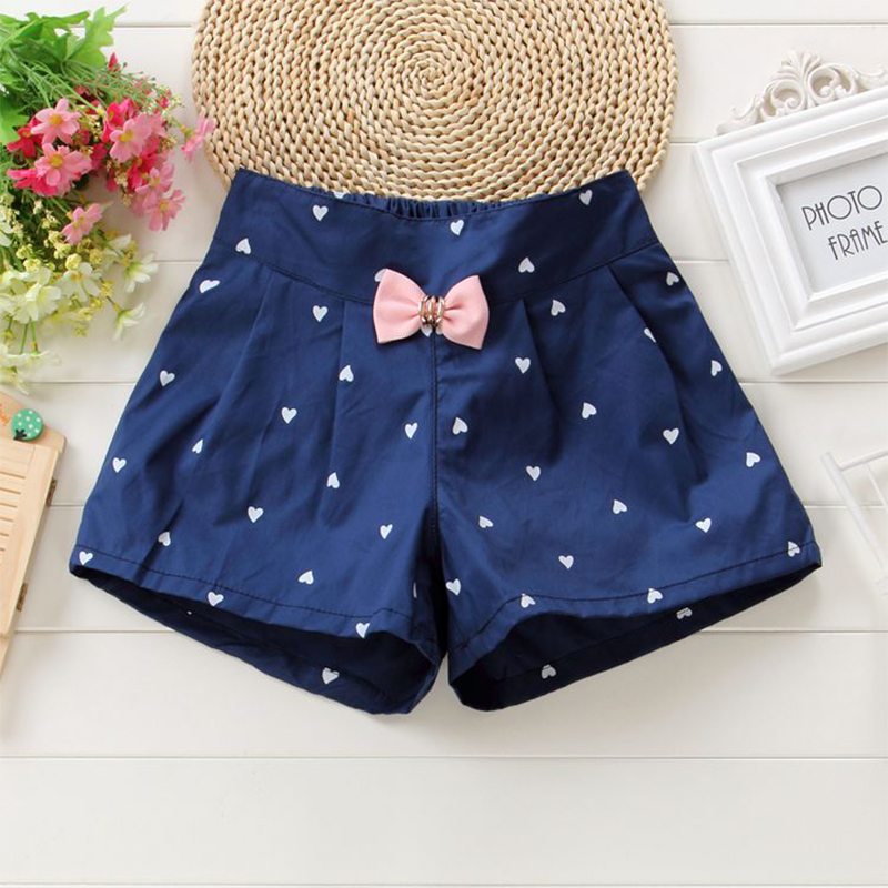 New Arrival Navy Pink Green Color Baby girls   shorts   Print children   shorts   kids   shorts   for girls clothes toddler girl clothing