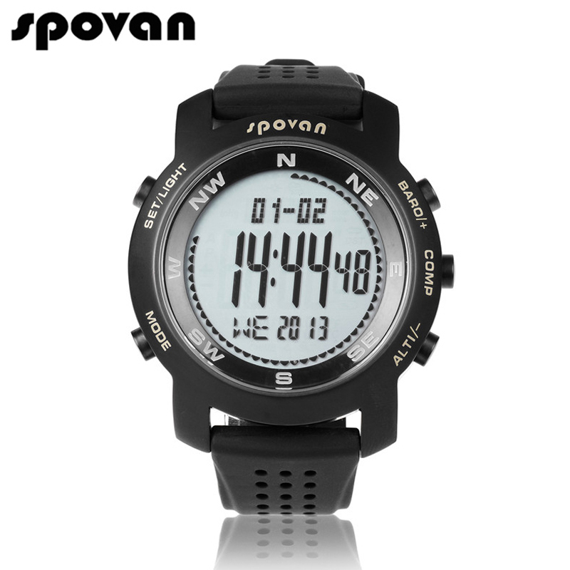 Spovan brand sports watches for men digital watch men led watch electronic wrist watches compass for Watches digital