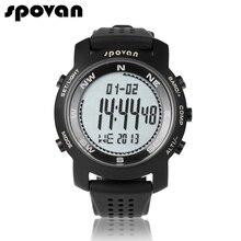 SPOVAN Марка Спортивные Часы для Мужчин Цифровые Часы Мужчины LED Часы Электронные Наручные Часы Компас/3D шагомер/50 м Водонепроницаемый B +