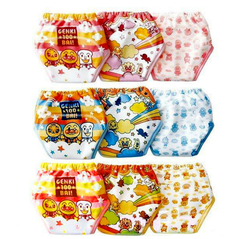 9pcs/lot New Baby Training Pants 3 Layers Boy Underwears Girl Cloth Diapers Toilet Learning Nappies Infant Shorts Panties #002