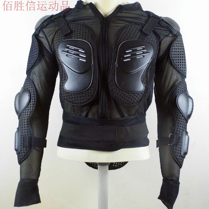 S MBK Motorcycle Riding Full Body Armor Jacket Spine Chest Protection Gear size