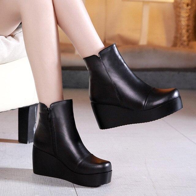 Compensées Chaussures Talon Bottines Hiver Haut Pour Plateforme Noir Bottes À 34 Pointure 42 Femmes Chaussons Filles zUSMpGVq