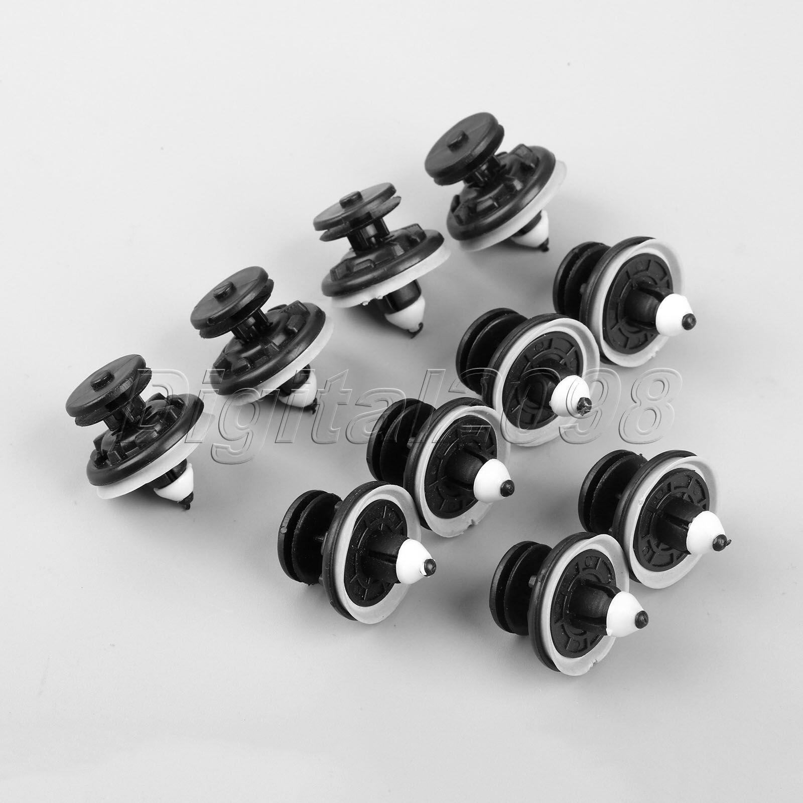 X AUTOHAUX 20pcs 7mm Hole Dia Plastic Bolt Rivets Fastener Rivets Ceiling Lining Trim Panel Clips Black for Car