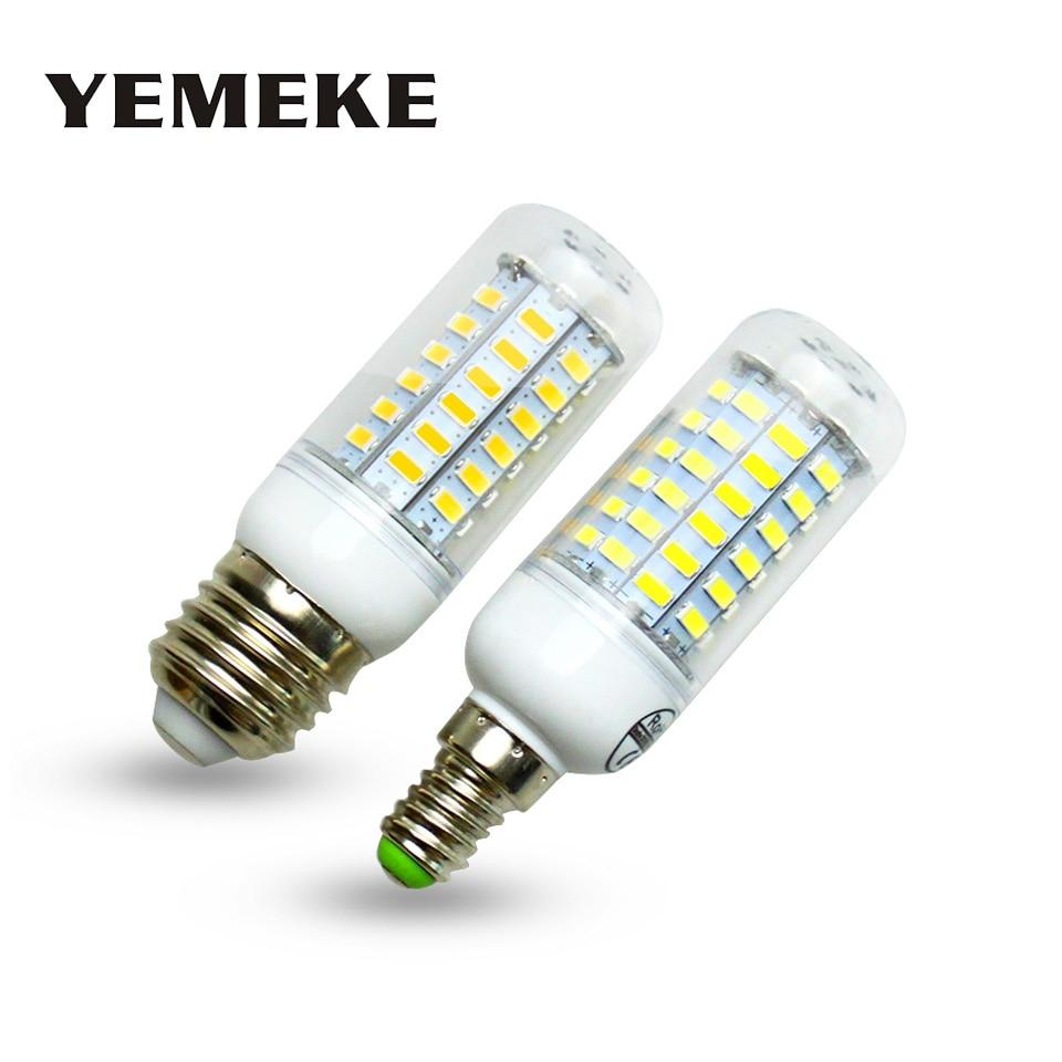 סופר הנורה הובילה E27 E14 220 V SMD 5730 מנורת LED 24 36 48 56 69 נוריות AC 230 V 5730SMD LED תירס אור הנורה נברשת AC200-240V