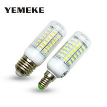 Super Led Bulb E27 E14 Smd5730 E27 Led Lamp 36 48 56 69Leds Lampada Bombillas Led Corn Bulb Chandelier Led Light For Home 220V