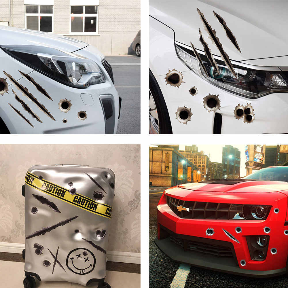 Coche de la motocicleta pegatinas 3D bala Etiqueta de estilo de coche para honda mono suzuki rm 125 ktm 690 suzuki boulevard m109r yamaha xmax