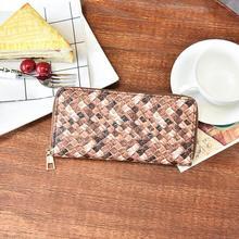 Дамы кошелек новинка 2017 кошелек досуг моды изделие ручного ткачества зерна на молнии женская сумка нулевой кошелек мобильный телефон пакет