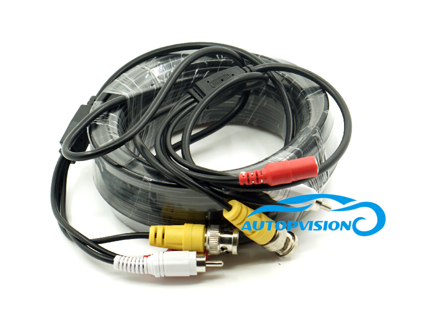15M 50FT Audio Video Power Camera Cable BNC RCA CCTV Cable CCTV Camera Cable