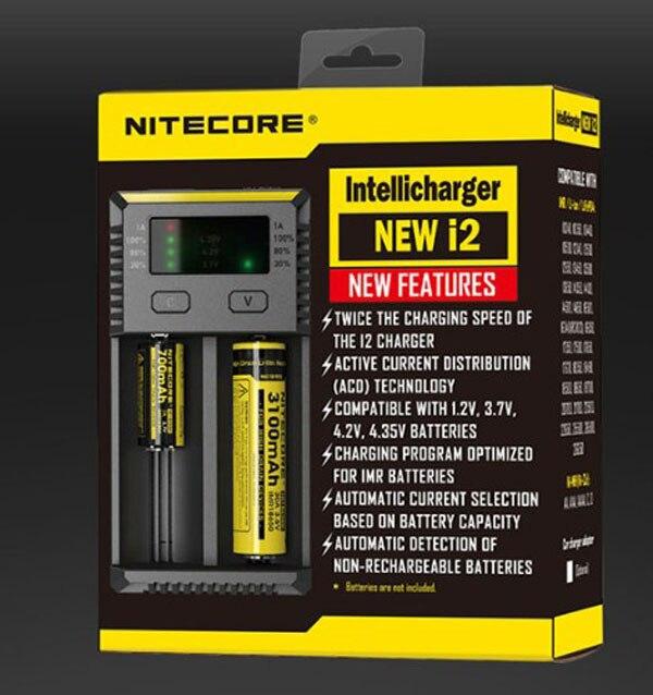 Original 2016 Nitecore New i2 <font><b>Smart</b></font> <font><b>Battery</b></font> <font><b>Charger</b></font> Max Output 1A with Indicator <font><b>for</b></font> LiFePO4 <font><b>Lithium</b></font> <font><b>Ion</b></font> Ni-MH NiCd <font><b>Battery</b></font>