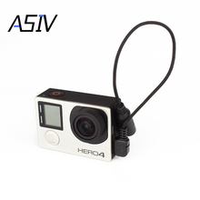 Go Pro Accessory 3.5mm Microphone Adapter Cable External Mic Cable Wire for GoPro HD HERO 4 3+ 3 Action Sports Camera PC Laptop