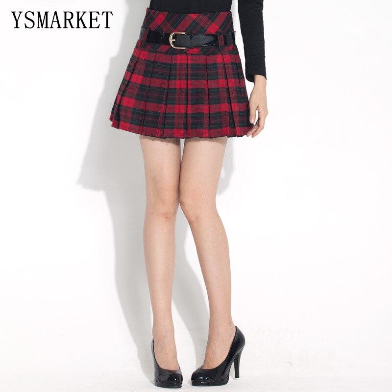 Womens Plaid Skirts - Skirts