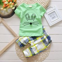 Baby clothes for girls 2017 new boys suits short sleeve T-shirt + pants children's sports suits wear 100% cotton kids clothes