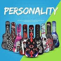 Waterproof 20 Mm Thicken 40 41 Acoustic Folk Flattop Acoustic Guitar Bag Cartoon Case Backpack Guitarra