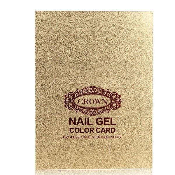 Gold / silver Professional 216 Colors Nail Gel Polish Display Book Chart & 216 tips Natural Nail Art Salon set