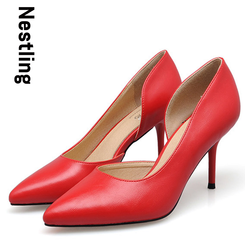 New 2016 Spring Summer Fashion OL Lady Shoes Sexy Thin heel Pointed Toe font b Women