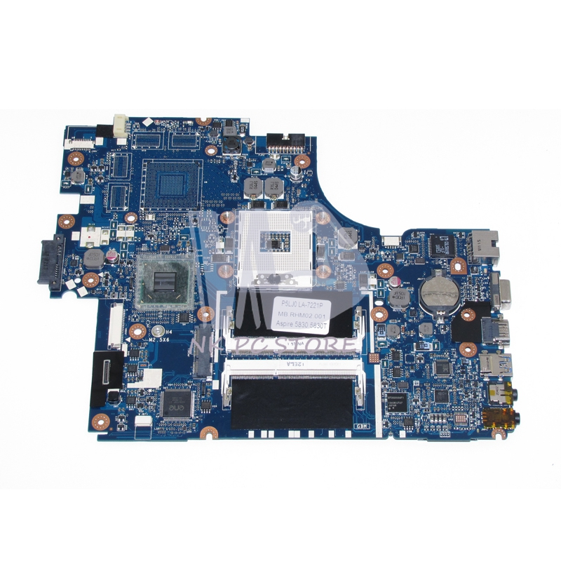 NOKOTION P5LJ0 LA-7221P MBRHM02001 MB.RHM02.001 Main Board For Acer aspire 5830 5830T Laptop Motherboard HM65 UMA DDR3 mbrr706001 mb rr706 001 laptop motherboard fit for acer aspire 5749 series da0zrlmb6d0 c0 hm65