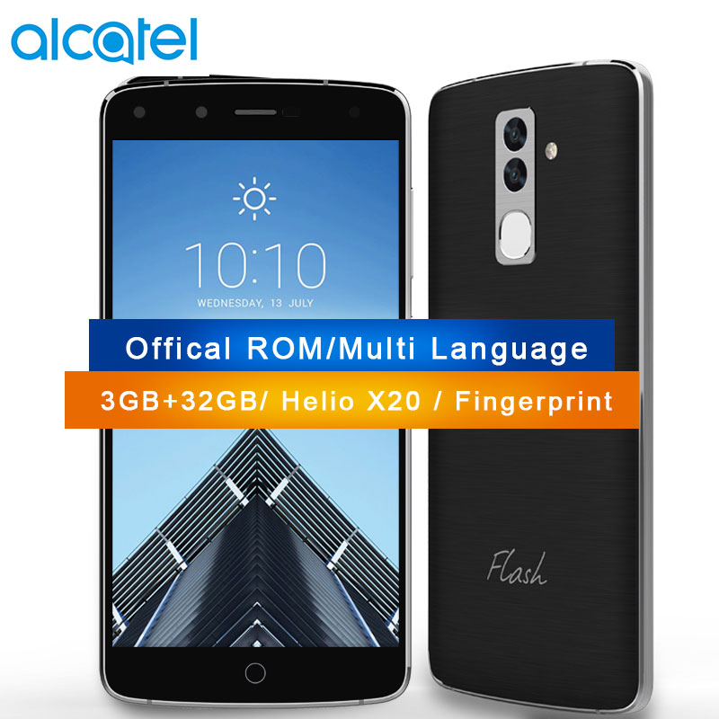 Originale alcatel fl03 4g lte mobile phone 3 gb di ram 32 gb mtk helio x20 deca core 5.5