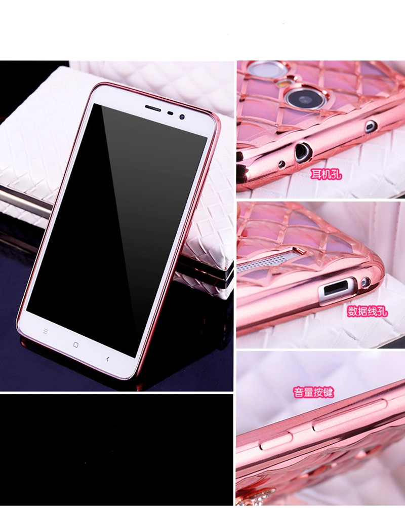 brand new 75c58 da2ec US $1.79 |For Xiaomi redmi note 4 Case Luxury Plating lattice TPU case  cover For Redmi Note 4 Pro Case redmi note4 Back Cover on Aliexpress.com |  ...