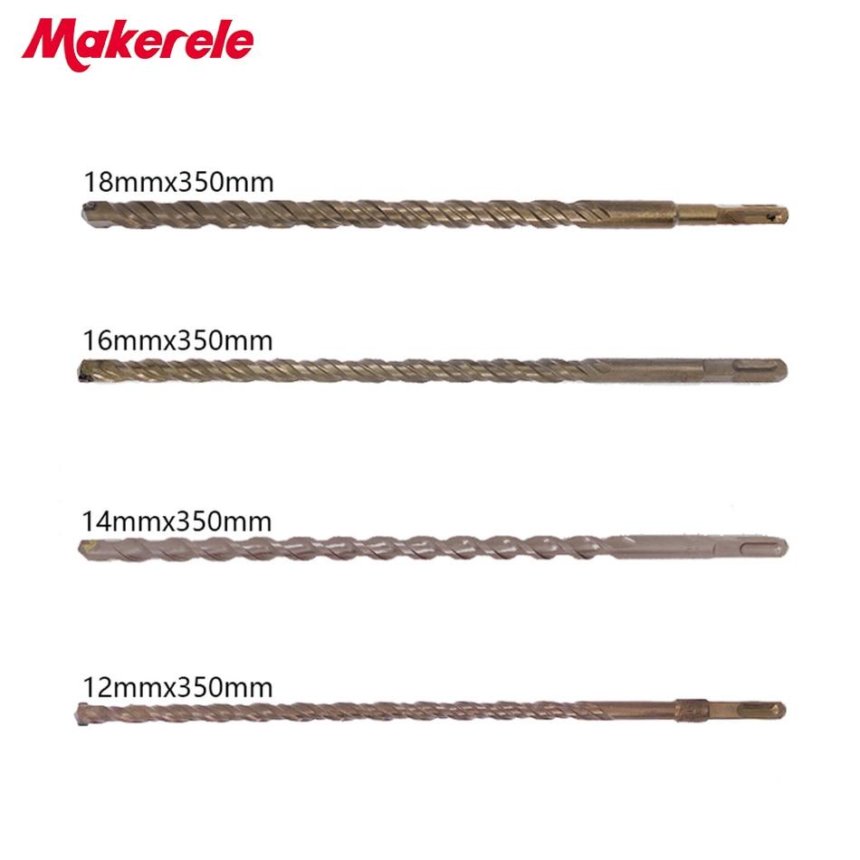 Best Sale 4Pcs/Set bits Twist Drill Bit For Metal 40CR chrome-vanadium steel Drilling Woodworking Tools 12/14/16/18mm xkai 14pcs 6 19mm ratchet spanner combination wrench a set of keys ratchet skate tool ratchet handle chrome vanadium