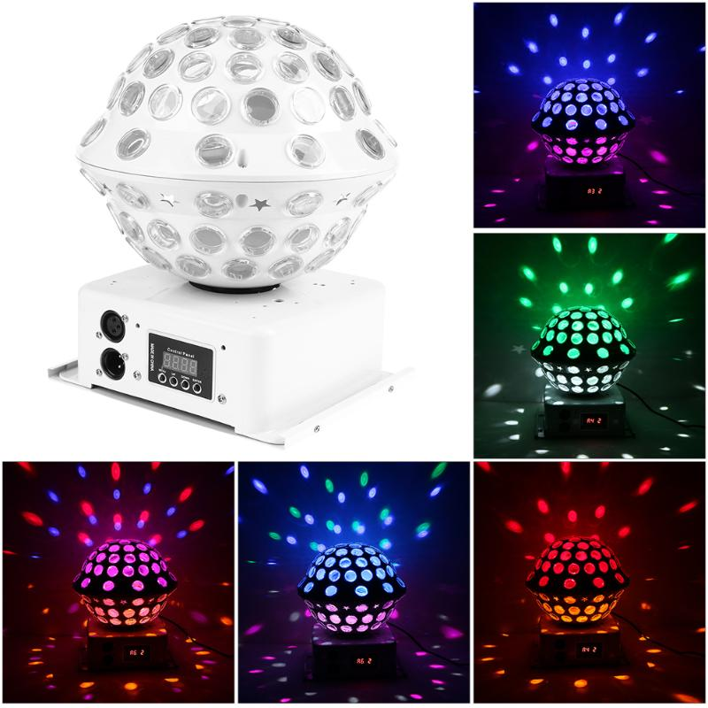 High Brightness Professional 30W RGB LED Crystal Magic Ball Stage Lamp Laser Light KTV Disco Flashing