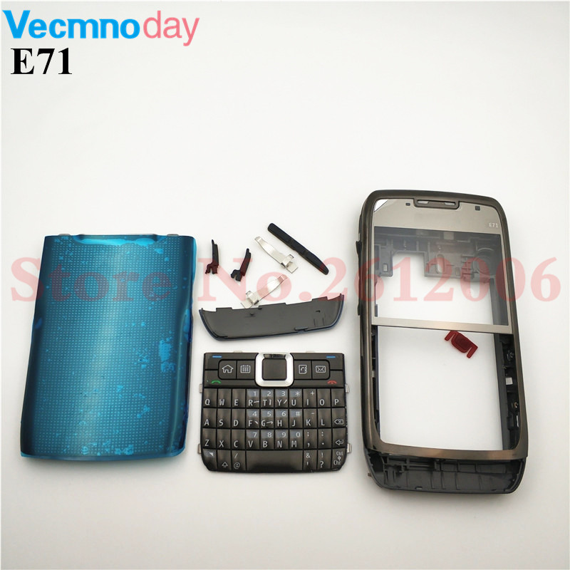 New Full Complete Mobile Phone Housing Battery Cover For Nokia E71 + Keypad With Logo