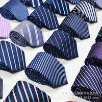 Men S Tie Formal Business Vestidos Wedding Classic Stripe Grid 8cm Corbatas Fashion Shirt Dress Accessories