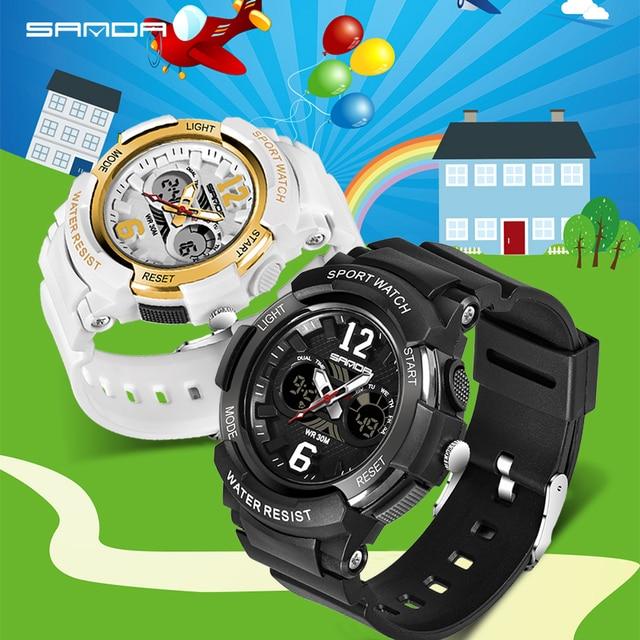 SANDA Kids Sport Watches LED Digital Children Watch Kids Watch Waterproof relogio masculino Boys Girls Alarm reloj hombre 4