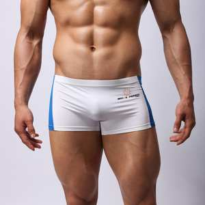 Briefs Trunks Boxer Swim-Shorts Swimming Patchwork Stretch Sexy Breathable Men's