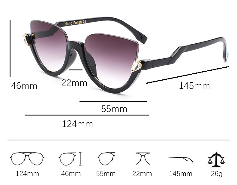 HTB1k9LWXELrK1Rjy0Fjq6zYXFXad - Fashion cat eye mirror womens sunglasses brand designer Vintage Cateye luxury crystal Sun glasses Female Gradient Glasses frames