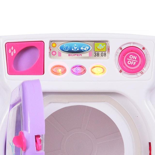 RCtown Children Play House Game Toy Simulation Washing Machine Electric Toy with Light Sound random color zk30 5