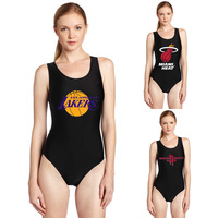 NEW 1002 Sexy Girl Summer Bulls Basketball Team Houston Fans 3D Prints One Piece Sleeveless Swimsuit