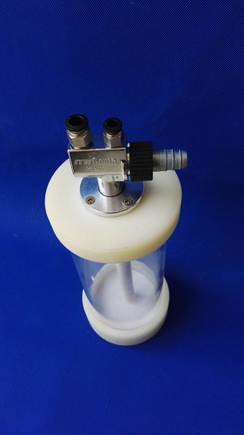 Barrel Bed Powder  Coating Powder Electrostatic And Injector Paint With Mini Hopper Small Fluidized Experiment