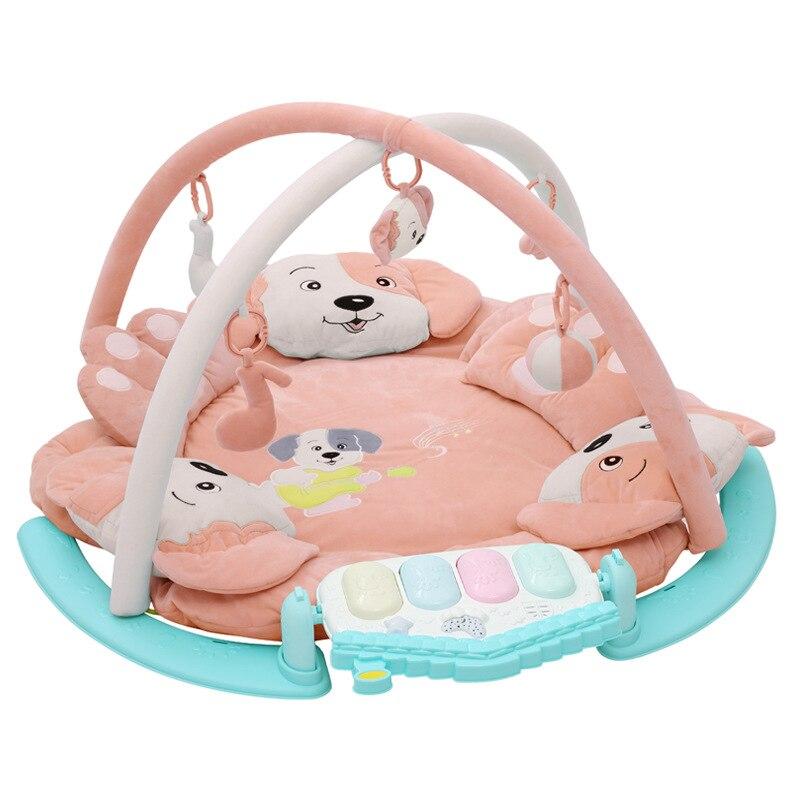Bébé produits jeux de musique tampons, bébé jouets éducatifs nouveau-né jouer tapis Piano jeu Racks Gym cadres la conception de chiot